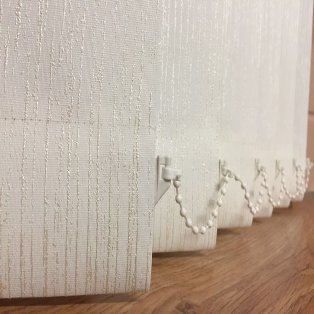 Made To Measure Tree Bark White Vertical Blind Pattern